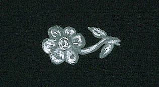 Platinum and diamond flower detail rendering by Joana Miranda