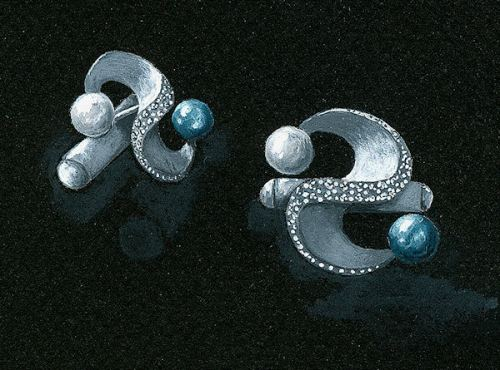 2008 George A. Schuetz Contest, 2nd Place Yin and Yang Cufflinks, by Joana Miranda