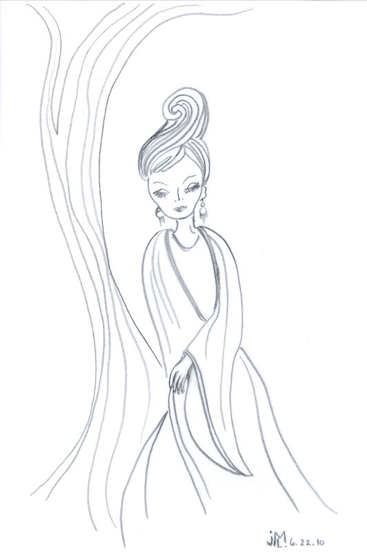 Line Drawing Lady : Design a day joana miranda studio page