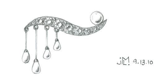 how to draw a beautiful tiara