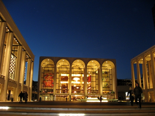 Lincoln Center at Dusk, photo taken by Joana Miranda