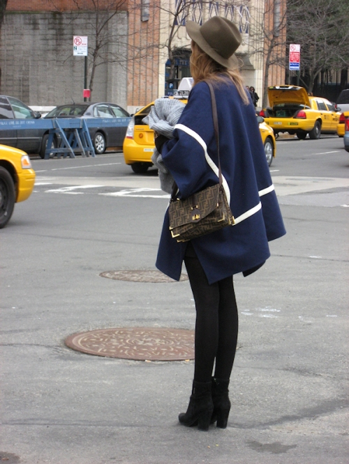 Photo of model on the corner near Lincoln Center - taken by Joana Miranda