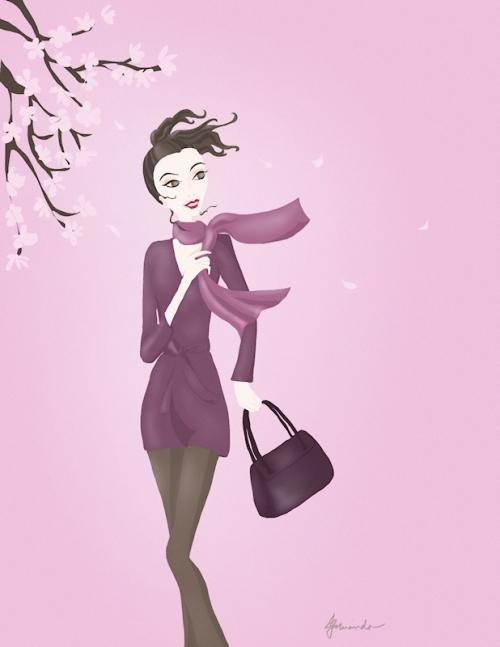 """""""Josephine and the Magnolia"""" illustration by Joana Miranda"""