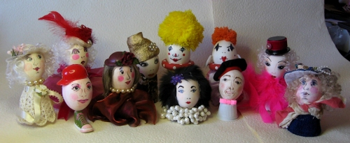 11 egg-heads decorated for Easter, photo taken by Joana Miranda