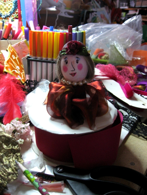 Photo of cute school girl egg created by my friend Tom, photo taken by Joana Miranda