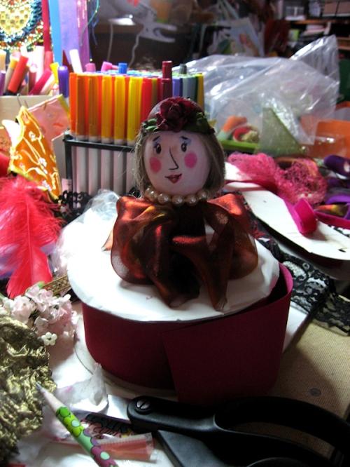 Photo of cute school girl egg created by my friend Tom, photo taken by Joana Miranda