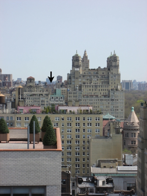 View from Upper West Side Oliver Cromwell Building looking north, photo taken by Joana Miranda