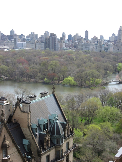 Photo overlooking the roof of the Dakota Apartments on the Upper West Side - taken by Joana Miranda
