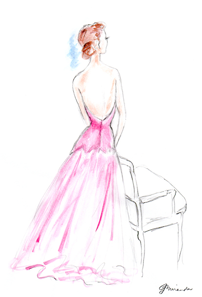 Bernard Blossac Fashion Illustration