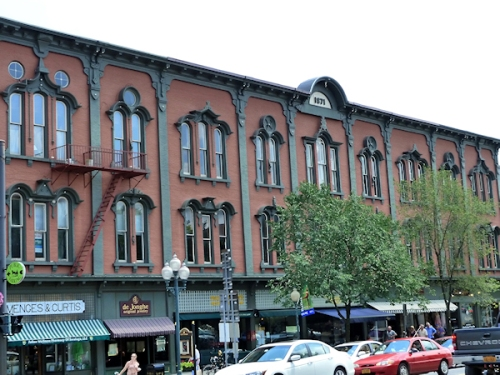 1871 building in downtown Saratoga Springs, NY, taken by Joana Miranda