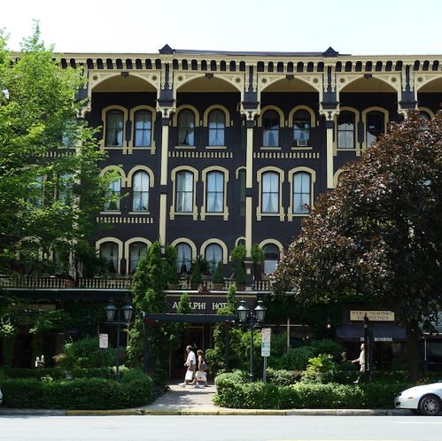 Photo of Adelphi Hotel in Saratoga Springs, NY, taken by Joana Miranda