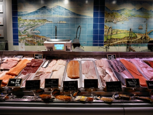 Fresh fish at Eataly fish department, photo taken by Joana Miranda