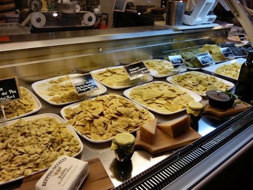Photo of homemade pasta for sale at Eataly, taken by Joana Miranda