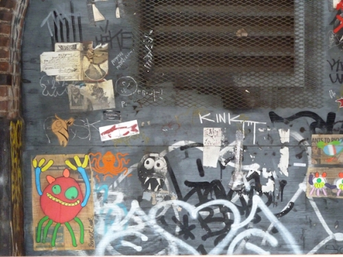 Photo of creepy-crawly graffiti in Brooklyn, taken by Joana Miranda