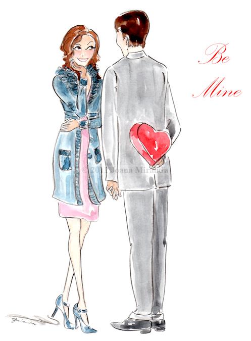 Whimsical Valentine's Illustration by Joana Miranda