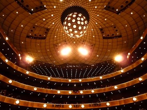 Photo of ceiling at David Koch Theater, taken by Joana Miranda