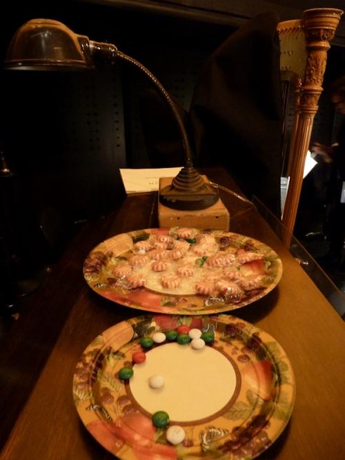 Photo of plates of candy on top of celesta, taken by Joana Miranda