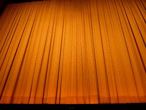 Photo of curtain at David Koch Theatre, taken by Joana Miranda