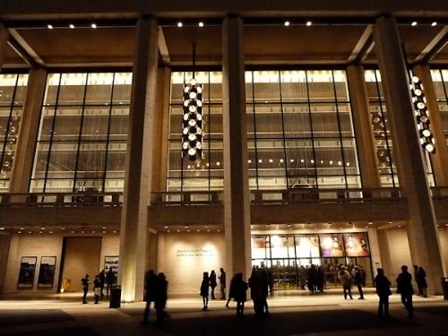 Photo of David Koch theater taken at night by Joana Miranda
