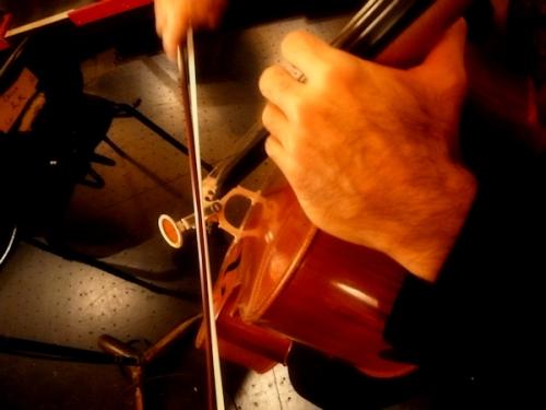 Photo cellist's hands, taken by Joana Miranda