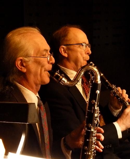 Photo of two New York City Ballet clarinetists, taken by Joana Miranda