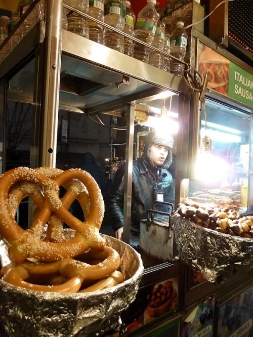 Photo of pretzel stand in Midtown, taken by Joana Miranda