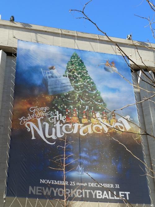 NY City Ballet's Nutcracker banner, photo taken by Joana Miranda