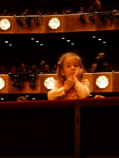 Photo of young patron at New York City Ballet, taken by Joana Miranda