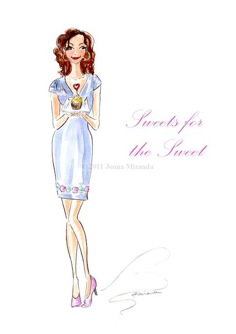 "Whimsical ""Sweets for the Sweet"" Valentine by Joana Miranda"