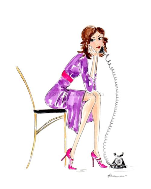 "Whimsical illustration ""Josephine Reached Out"", by Joana Miranda"