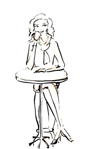 Preliminary Ink illustration by Joana Miranda