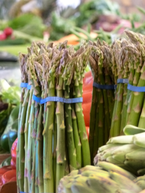 Photo of fresh asparagus at the West Side Market, taken by Joana Miranda
