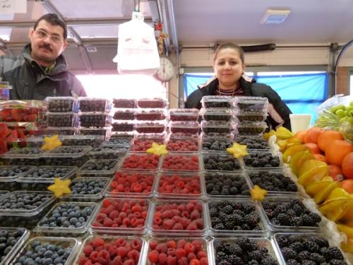 Photo of berries at West Side Market, taken by Joana Miranda