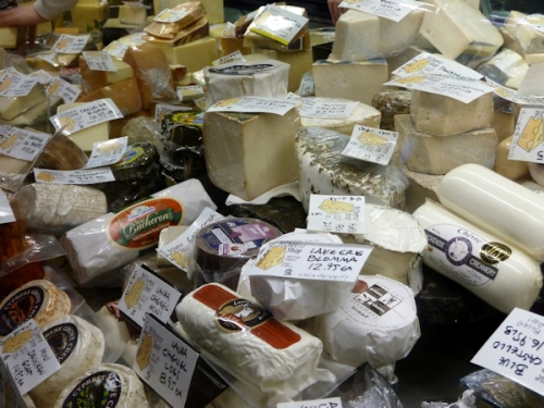 Photo of cheese at the West Side Market, taken by Joana Miranda