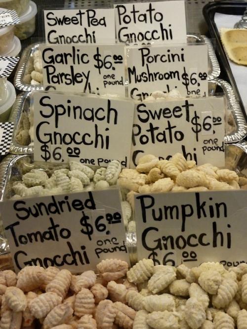 Photo of homemade gnocchi at West Side Market, taken by Joana Miranda