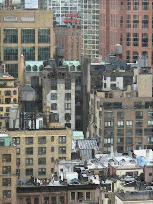 "Photo of Upper West Side ""tapestry"" of buildings taken by Joana Miranda"