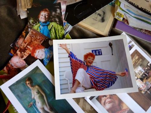 Photo of a collection of Ilona Royce-Smithkin's treasured photos, taken by Joana Miranda