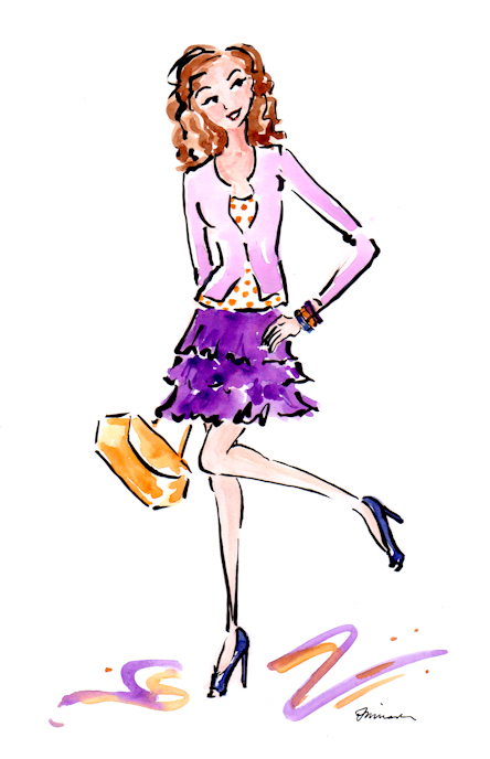 Project Runway-inspired quick sketch by Joana Miranda
