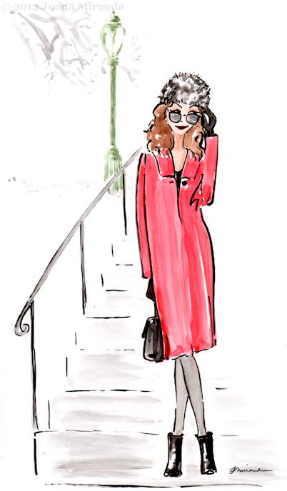 Whimsical gouache and ink illustration by Joana Miranda