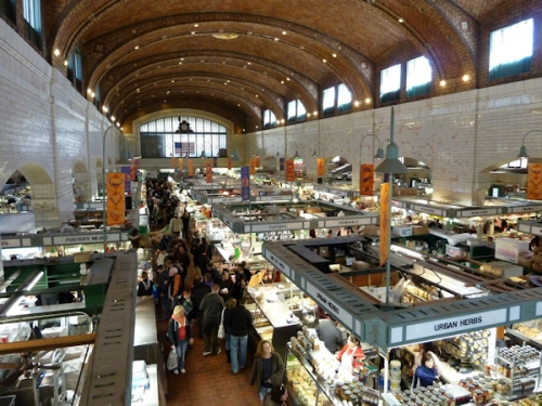 Photo of Cleveland's West Side Market, taken by Joana Miranda
