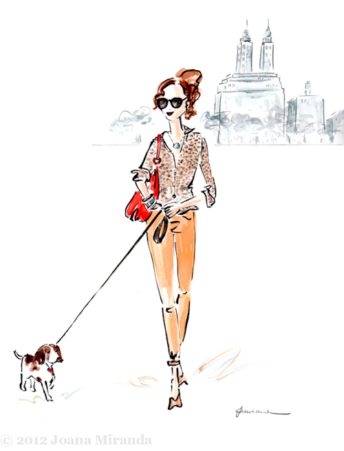 """Josephine Strolled with Andre"" - Whimsical illustration by Joana Miranda"