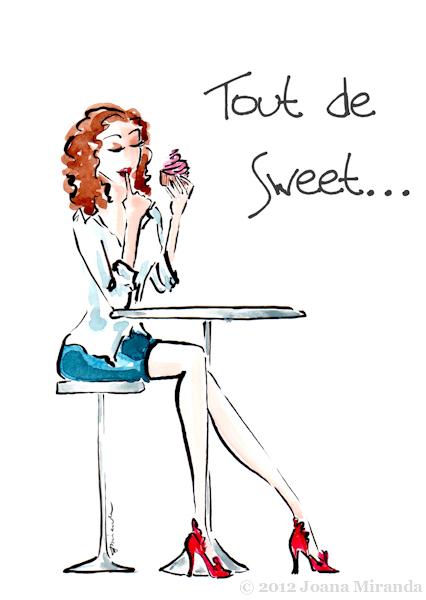 Sweet Treat - Whimsical illustration by Joana Miranda