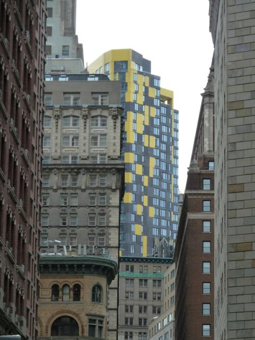 Photo of eclectic Wall Street neighborhood taken by Joana Miranda