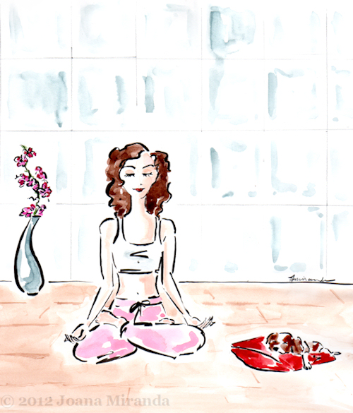 A Zzzzzen Moment - Whimsical Illustration by Joana Miranda