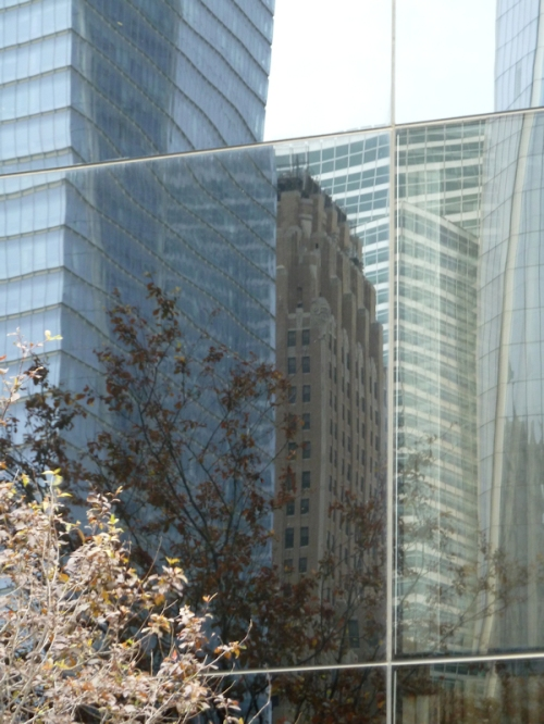 Photo of skyscraper reflections, taken by Joana Miranda