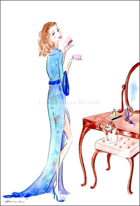 "Whimsical Illustration ""After the Bath"" by Joana Miranda"