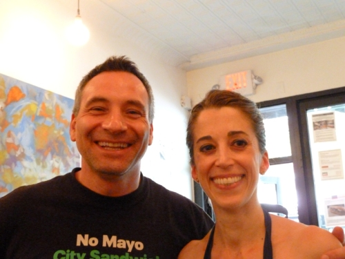 Photo of City Sandwich Chef Guerrieri and Joana, photo taken by Andy