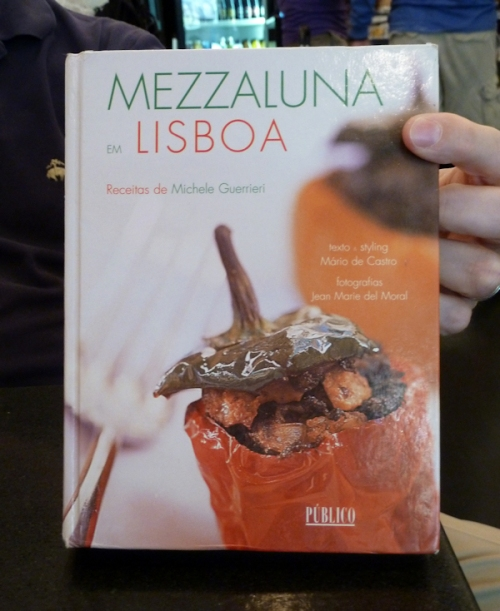 Photo of Mezzaluna em Lisboa cookbook by Michael Guerrieri, photo taken by Joana Miranda
