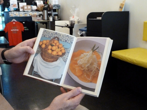 Two beautiful photos from Mezzaluna em Lisboa cookbook
