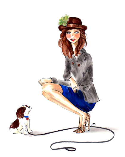 The Fall Forecast for Fashionistas is Fedoras! - Whimsical marker and ink illustration by Joana Miranda